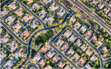 Arial view of a Phoenix subdivision